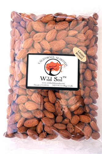 Wild Soil Almonds - Distinct and Superior to Organic, Steam Pasteurized, Light Roasted 1LB Bag (Profile Soil compare prices)