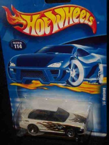 #2001-114 1996 Mustang 3-spoke Wheels Collectible Collector Car Mattel Hot Wheels 1:64 Scale - 1
