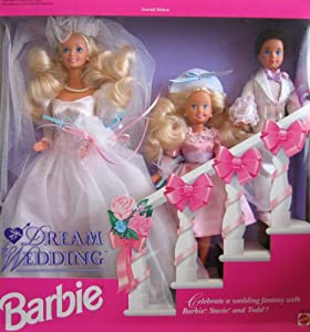 Barbie Dream Wedding Gift Set w Barbie, Stacie & Todd Dolls (1993)