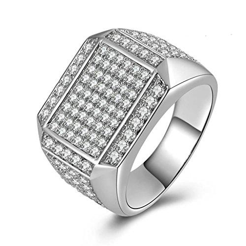 gnzoe bijoux homme bague de mariage luxe simple full zircone cubique personnalis anneau. Black Bedroom Furniture Sets. Home Design Ideas