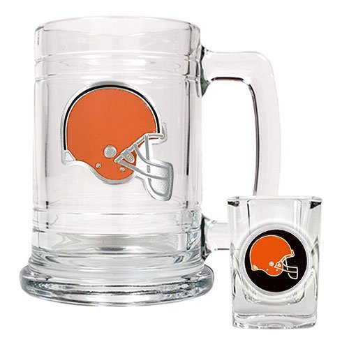 NFL Cleveland Browns Boilermaker Set (Primary Logo) at Amazon.com