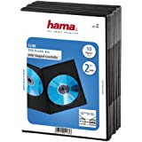 Hama 00051184 Lot de 10 boitiers de 2 DVD Slim