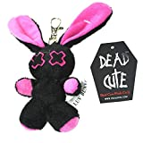 Poizen Industries bebé Minxy Llaveros Unisex Negro y rosa rojo y blanco Soft Toys, negro/rosa, Talla única