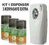 KENYASAFE EXTRA 3 bombole insetticida da 250 ml con erogatore automatico