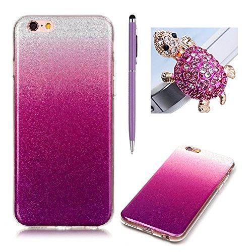 "Coque Apple iPhone 6/6S 4.7"" - SKYXD Brilliant Bling Glitter Sparkle Shiny Paillette Ultra Mince Housse Etui Premium Gel Silicone TPU Souple"
