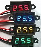 0.28インチ 超ミニLED デジタル電圧計 12V-24V車用オートバイ デジタルディスプレー 2線式防水性 (レッド)