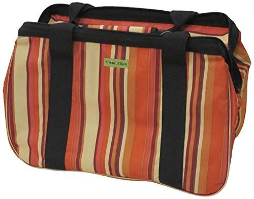 JanetBasket Eco Bag, 18-Inch x 10-Inch x 12-Inch, Brown Stripes by NCM Canada, Inc.