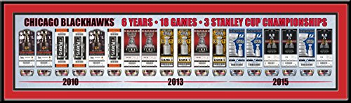 Chicago Blackhawks Stanley Cup Champions Tickets to a Dynasty Framed Print