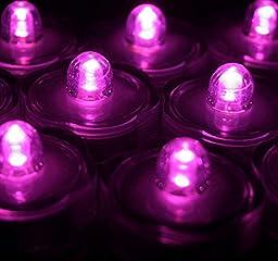 Submersible Tea Lights Purple (Pack of 36)