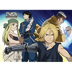 Fullmetal Alchemist Brotherhood: Group and Scar Anime Wall Scroll
