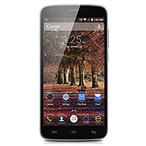 DOOGEE T6 5.5 Inch 4G LTE Smartphone Android 5.1 Quad Core 2GB/16GB Quick Charge + 6250mAh Battery Mobile Phone HotKnot OTG Dual Flashlight Cellphone (Black)