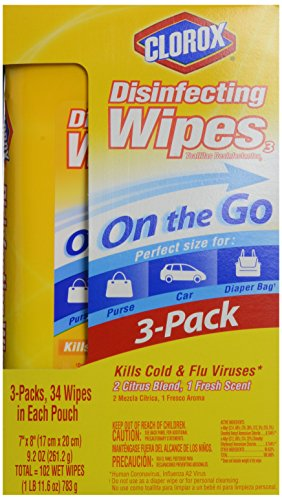 Clorox Disinfecting Wipes To Go Value Pack, Citrus Blend and Fresh Scent, 102 Count