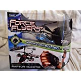 Glove Force Flyers 4 Channel Raptor Helicopter The New Movement In R/C Color Blue