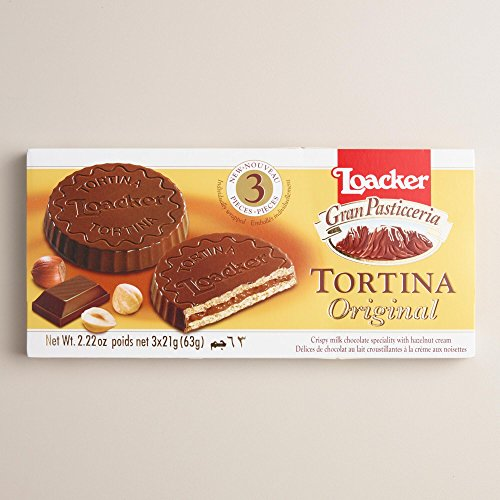 Italian Loacker Tortina Original Hazelnut Cookies 2.62oz (Pack of 3) (Italian Wafer Cookies compare prices)