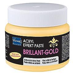 Home Design Acrylic Effect Paste Brilliant-Gold 150 ml