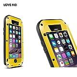 LOVE MEI 正規品 iPhone 6sPlus/6Plus ケース ハード カバー 正規品 軍用 耐衝撃 生活防水 防塵 指紋認証センサー対応 ブランドiPhone 6sPlus ケース iPhone 6Plus ケース (イエロー)