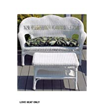 Sahara Weather Resistant Outdoor Wicker Love Seat