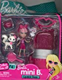 Barbie Mini B. Lipstick Series Doll #4 with Cat & Case w/ Doll Stand