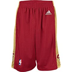 Cleveland Cavaliers Wine Youth 8 Inseam NBA Replica Basketball Shorts By Adidas by adidas