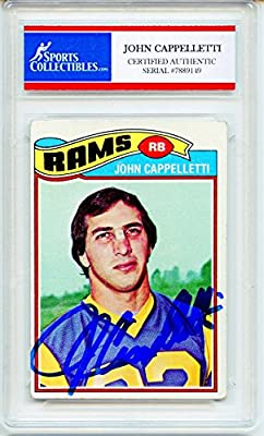 John Cappelletti Autographed Los Angeles Rams Encapsulated Trading Card - Certified Authentic