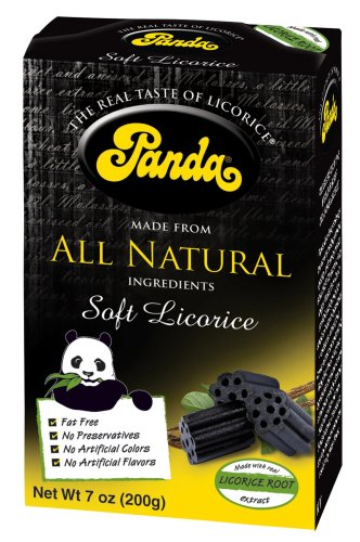 Panda All Natural Licorice Chews, 7-Ounce Boxes (Pack of 12)