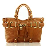 Bovari XL Padlock Shopper in cognac