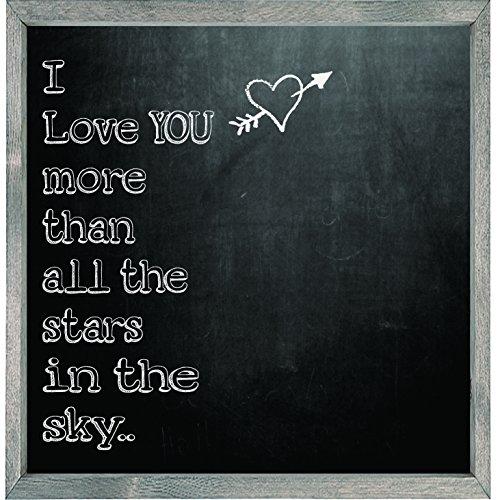 [해외]숲 크리 자석 예술 인쇄, 그레이, 스카이 칠판 스타일의 모든 별보다 더/Forest Creations Magnet Art Print, Gray, More Than All The Stars in The Sky Chal
