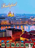 Budapest Hungary Hungarian Europe European Travel Advertisement Art Poster