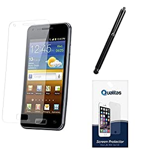 Qualitas Pack of 6 Matte Screen Protector for Samsung Galaxy E5 + Touch Screen Stylus
