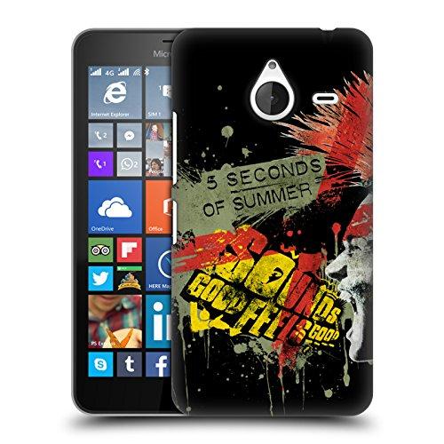 Ufficiale 5 Seconds Of Summer X Arancione Punk Cover Retro Rigida per Microsoft Lumia 640 XL