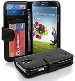 custodia eco pelle Book Style per Samsung Galaxy S4 I9500 nera , nero