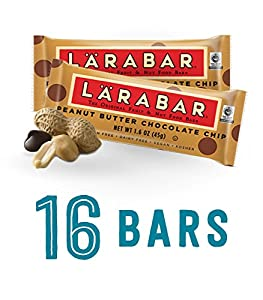 Larabar Gluten Free Snack Bar, Peanut Butter Chocolate Chip, 1.6 oz. Bars (16 Count)