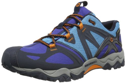 Merrell Mens Grasshopper Sport Gore-Tex Trekking and Hiking Shoes J24573 Navy/Lime 10.5 UK, 44.5 EU