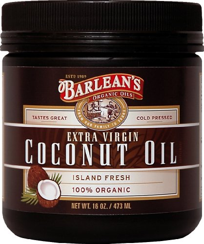 Barlean's Organic Oils Extra Virgin Coconut Oil, 16-Ounce Jar