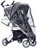 Trends For Kids - Plástico lluvia TFK para Silla Paseo simple Dot (T-00-003-D) transparente