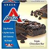Atkins Advantage Triple Chocolate Light Meal Bar, 1.4 oz. Bars, 5 Count