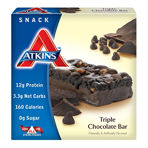 Atkins Advantage Triple Chocolate Light Meal Bar, 1.4 oz. Bars, 5 Count
