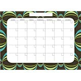 Brewster Wall Pops WPE99019 Peel & Stick Loopy Dry-Erase Monthly Calendar With Marker- Blue