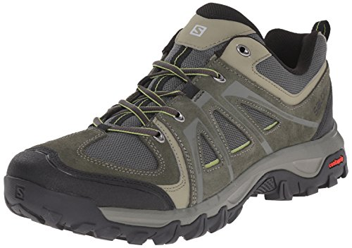 Salomon Men's Evasion Aero Hiking Shoe, Night Forest/Night Forest/Turf Green, 10.5 D US