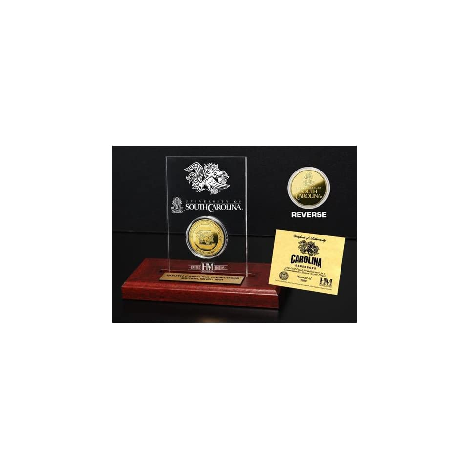 BSS   University of South Carolina 24KT Gold Coin Etched Acrylic