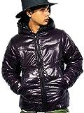 (エイト) 8(eight)12color 中綿 ダウンジャケット ナイロン ブルゾン アウター 防寒 アウトドア XL パープル