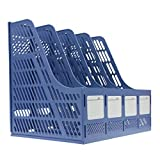 Starsource File Magazine Book File Document Folder Desk Organizer File Sorters Basket Box Blue
