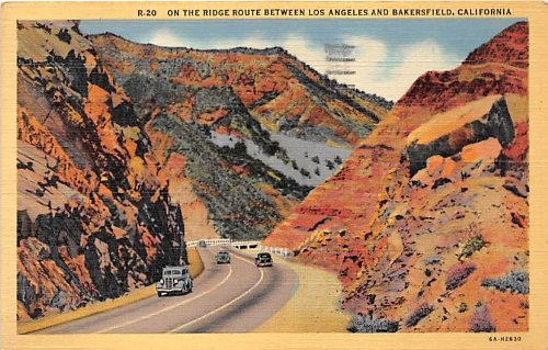 Bakersfield, California Postcard