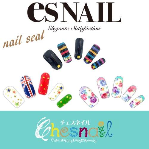 Chesnail チェスネイル ポップなお買得3枚セット esNAIL AIKO デザイン ネイルシール