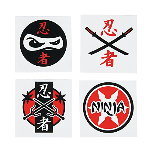 Ninja Warrior Temporary Tattoos (6 Dz)