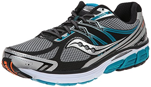 Saucony Men's Omni 14 Running Shoe, Silver/Blue,8.5 M US