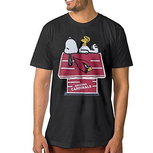 Show-Time-Mens-Arizona-Cardinal-Short-Sleeve-Funny-T-shirt-Black