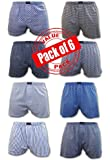 Andrew Scott Men's 6 Pack Slim Fitting Cotton Jersey Boxer Sleep Shorts