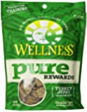 Wellness Pure Rewards Natural Grain Free Dog Treats Made in USA Only, Turkey Jerky, 6-Ounce Bag