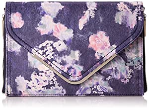 BCBGeneration Blaire The Higher Maintenance Clutch,Blue Night Multi,One Size